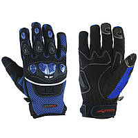 Перчатки Ткань Для Защиты Мотоцикла Суставы Летний Ткань Сетка Ажурная Летняя Голубая XS