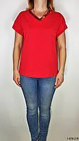 Женская блузка. Блуза с коротким рукавом. Блузка на лето из натуральной ткани. Женская одежда. Размер M/L
