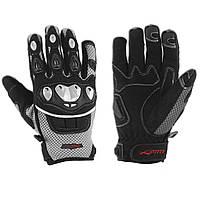 Перчатки Ткань Для Защиты Мотоцикла Суставы Летние Ткани Ажурный Летний Серый XS