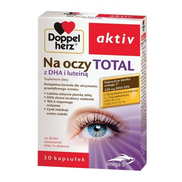 Doppelherz Aktiv, Na oczy Total витамины для глаз с лютеином, Омега-3, витаминами и минералами 30 капс