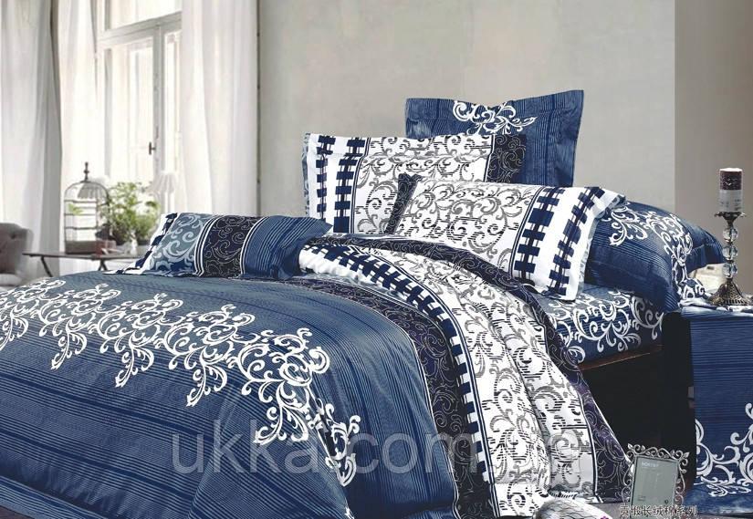 Двуспальное постельное белье Вилюта 8630 синий