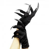 Перчатки с когтями короткие (черные с серебряным)