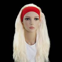 Парик Гофре с повязкой блонд