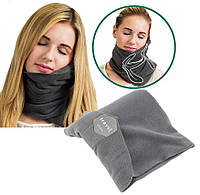 Подушка-шарф для путешествий Travel Pillow Gray (2839)