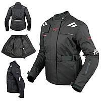 Женская куртка Мотоцикла Водонепроницаемый Ткани Защиты CE Путешествие Черный