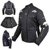 Женская куртка Мотоцикла Водонепроницаемый Ткани Защиты CE Путешествие Флуоресцентный