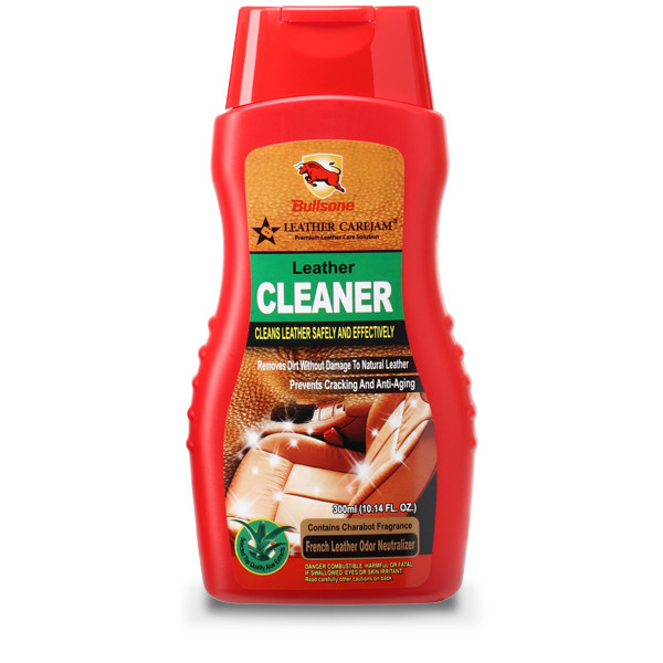Очиститель для кожи Bullsone Leather Cleaner ✓ 300 мл - Автокар в Киеве