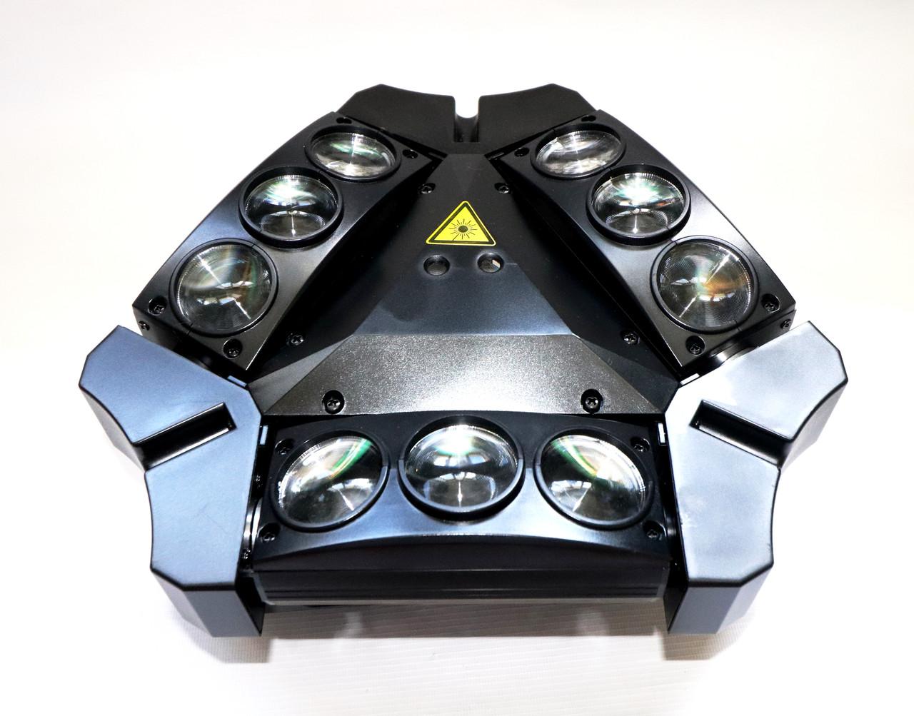 Дискотечный прибор паук лазер Spider moving head 9x10 RGBW