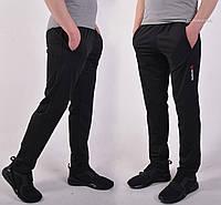Мужские спортивные штаны Reebok (Рибок), Трикотаж лакост (пике) - черные