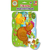 Магнитные пазлы с крупными деталями Курочки, Vladi toys