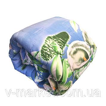 Ковдра євро розмір холлофайбер СТАНДАРТ, тканина бязь (полікотон)