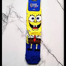 Носки высокие с принтом Спанч Боб размер 37-43