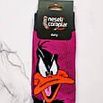 Шкарпетки високі з принтом Даффі Дак розмір 37-43, фото 3