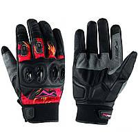 Перчатки Кожа Техническая Ткань Дышащая Летом Мотоцикл Yamaha Honda Красный