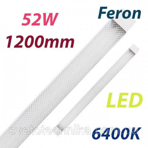 Светодиодный светильник Feron AL5020 52W 64000K IP40 1200mm на 2 полосы