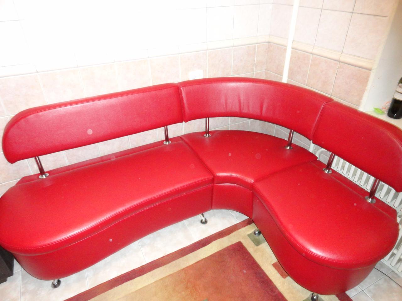 Перетяжка углового диванчика для офиса, клиники, рецепции, кафе. Перетяжка мягкой мебели Днепр.