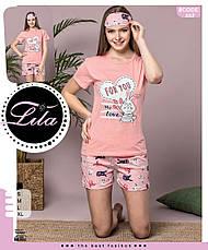 Пижама женская футболка и шорты +маска для сна т.м SAFIR Турция S-M-L-XL Много моделей, фото 3