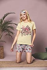 Пижама женская футболка и шорты +маска для сна т.м SAFIR Турция S-M-L-XL Много моделей, фото 2