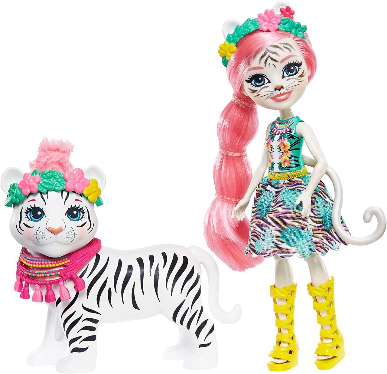 Лялька Энчантималс Білий тигр Тэдли і Кітті