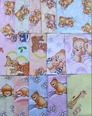 Детская пеленка  бязь для девочки / для мальчика / универсальные - 100 х 80 см, фото 2