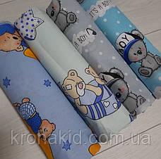 Детская пеленка  бязь для девочки / для мальчика / универсальные - 100 х 80 см, фото 3