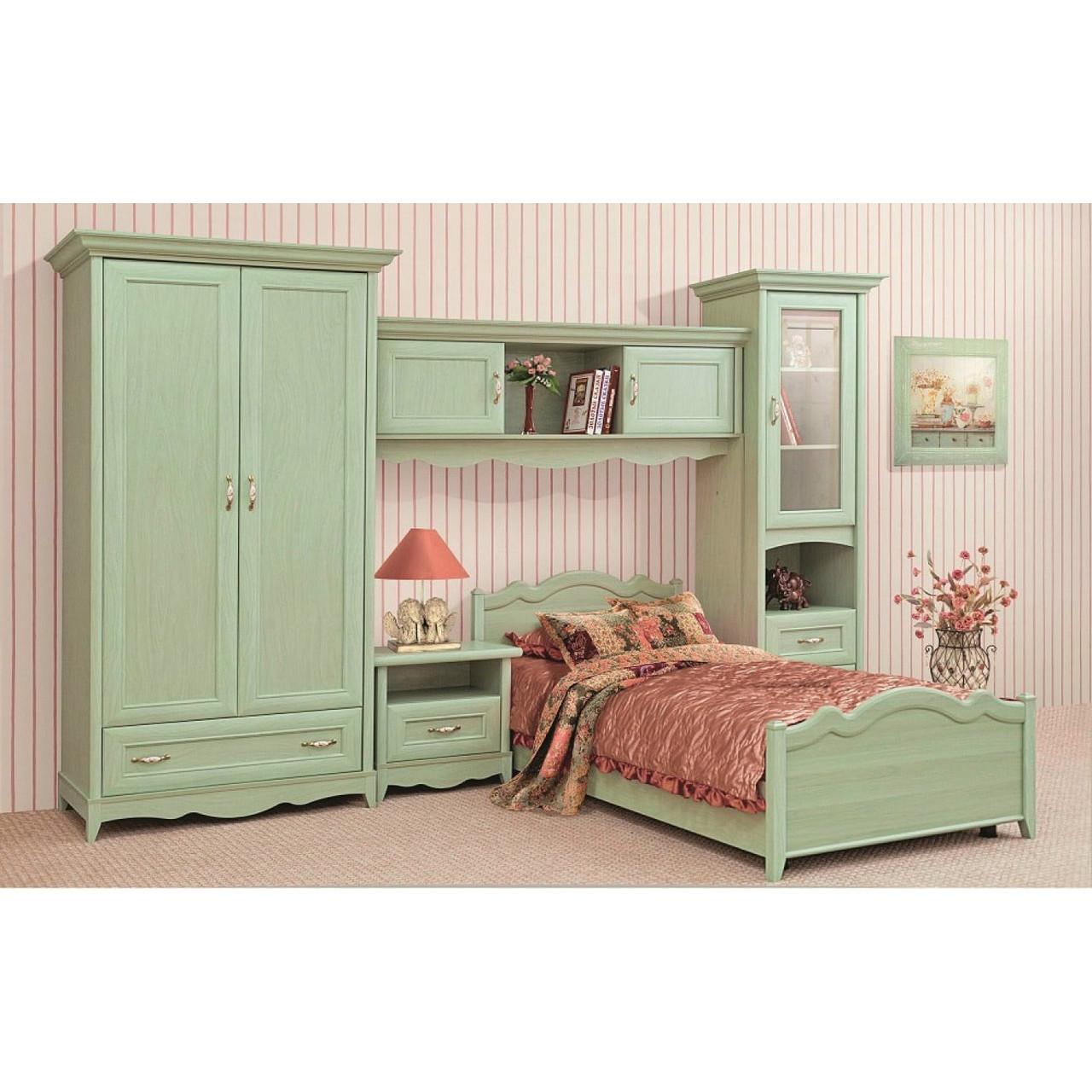 Селина детская спальня 3. (ольха зеленая) Світ меблів.
