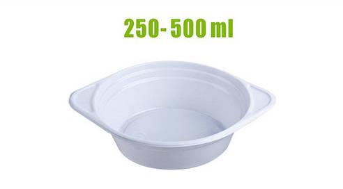 Тарелки пластиковые 350-500млл (тарелки для первых блюд)