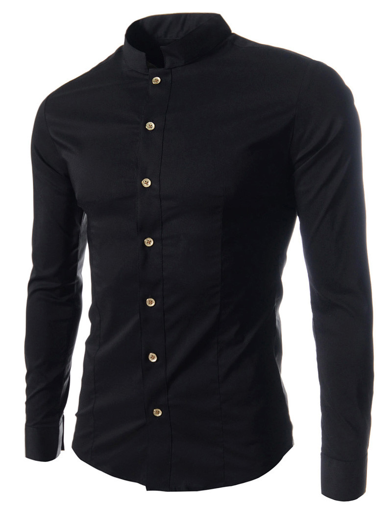 фото черная рубашка мужская