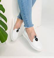 Летние белые кожаные женские туфли 36-40р