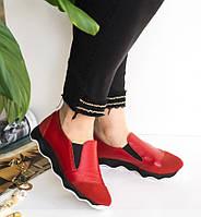 Летние кожаные женские спортивные туфли-кроссовки 36-41р