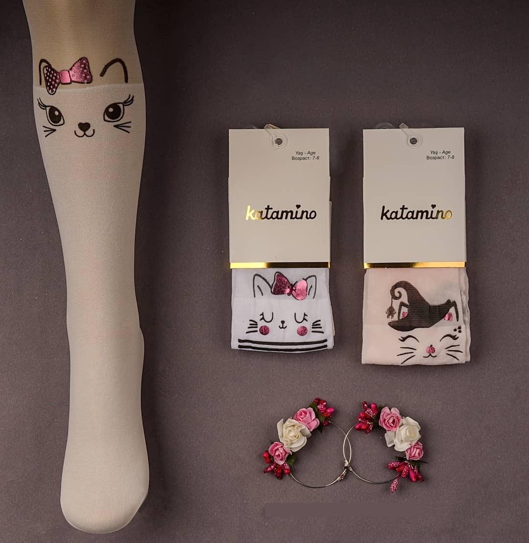 Колготки капроновые для девочек 5-6 лет TM Katamino оптом Турция 5489612730313