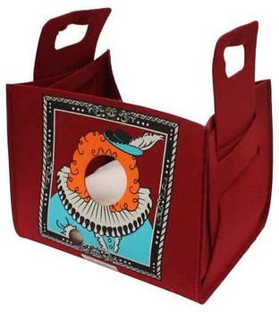 Диван-сумка для собак и котов Popcat King Bordeaux, бордовый, 35х25х30 см