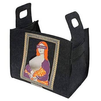 Диван-сумка для животного Popcat Monnalisa, серый, 35х25х30 см