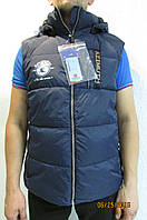 Мужская жилетка Azimuth 8068-187 темно синяя  код 445б
