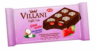 Кекс шоколадный «Villani»  с кокосом и клубничным джемом 50 гр 24 шт
