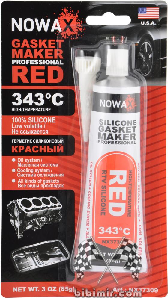 красный силиконовый герметик novax