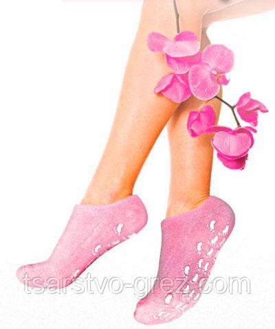 Гелевые увлажняющие носочки (Gel Spa Socks), Розовые.