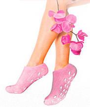 Гелевые увлажняющие перчатки (Gel Spa Socks), Розовые. (Коробка примята!)
