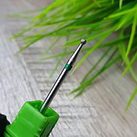 Шар алмазный с зеленой насечкой для маникюра №15
