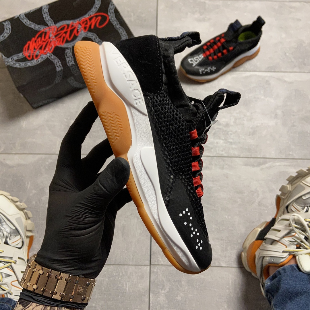 Женские кроссовки Versace Cross Chainer Black, женские кроссовки версаче кросс чайнер