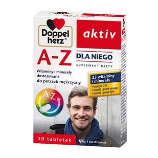 Doppelherz Aktiv, A-Z витаминно-минеральный комплекс для мужчин   30 таблеток