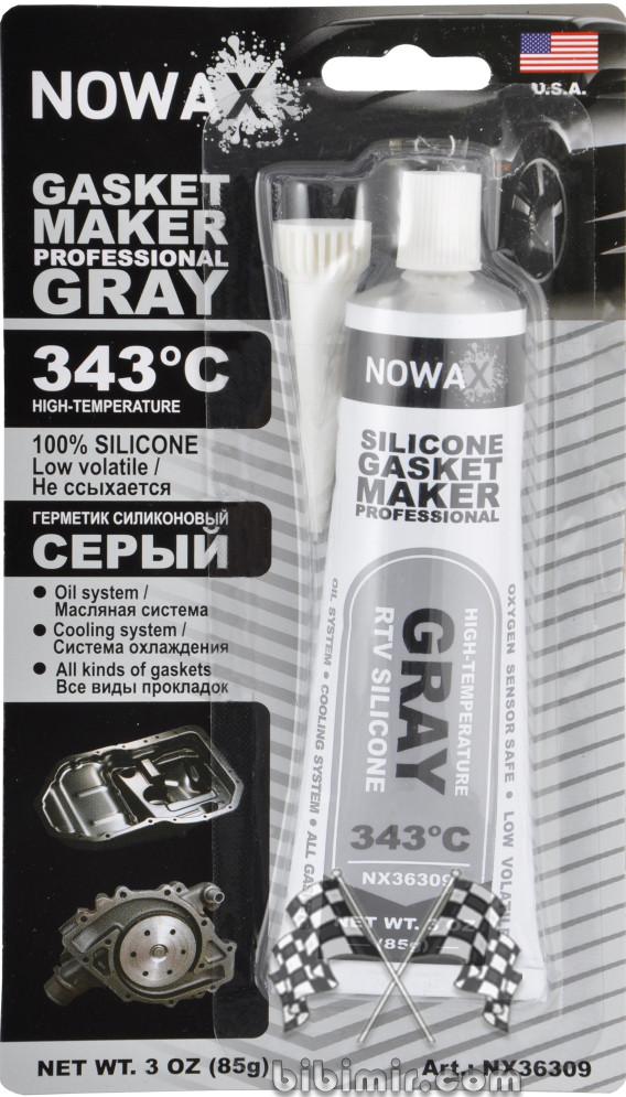 серый силиконовый герметик Nowax