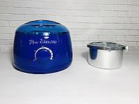 Воскоплав баночный Pro-wax 100 для воска в банке, в таблетках, в гранулах с чашей 400 мл СИНИЙ, фото 1