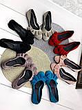 Жіночі балетки з рюшами шкіряні натуральний замш, фото 6