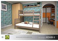 Кровать Комби-1 Массив Сосна