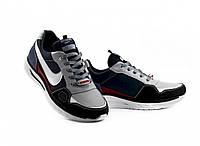 Мужские кроссовки кожаные весна/осень синие-белые Splinter Max 0720