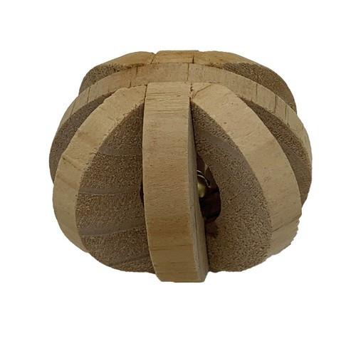 Игрушка для грызуна Мяч, дерево, 6 см