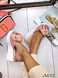 Женские шлепки кожаные Джуси с бантом,белые,пудра,черные, фуксия, капучино,  ,на платформе 6,5 см, фото 4