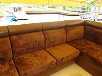 Перетяжка углового дивана масивного