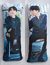 Дакімакура Подушка обнімашка 100х40 см із змінною наволочкою BTS. Jungkook & Suga